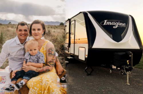 Sandel Family of three with RV